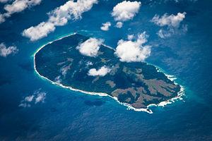 Luftbild der Insel Bompoka