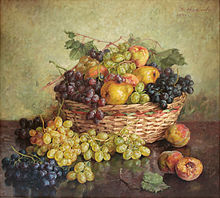 Nikola Avramov 1941 Basket with grapes.jpg