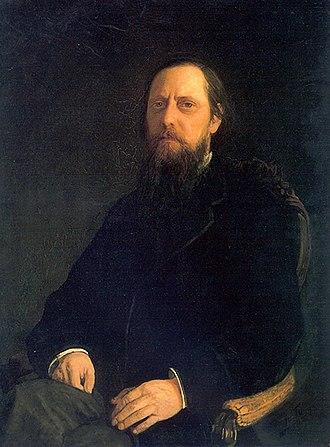 Mikhail Saltykov-Shchedrin - Mikhail Saltykov's portrait by Nikolai Ge, 1872.