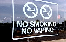 A no smoking or vaping sign from the US