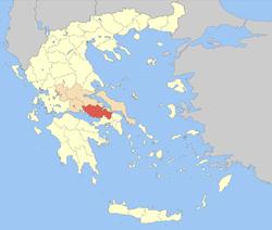 Boeotia wewnątrz Grecji