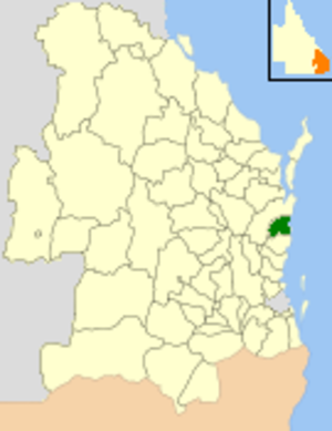 Shire of Noosa - Location within Queensland