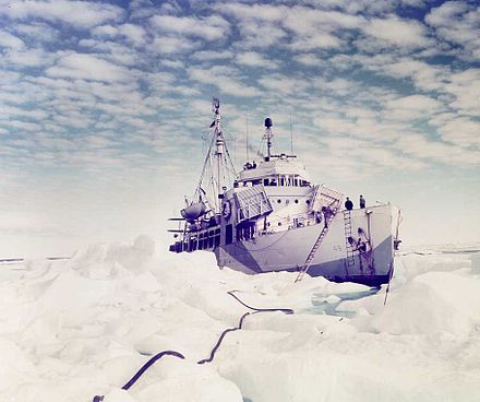 Northland in Greenland circa 1944 which became the Israeli INS Eilat Northland Color 1.jpg
