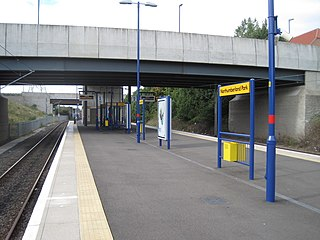 Northumberland Park Metro station Tyne and Wear Metro station in North Tyneside