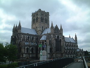 Earlham Road - The Roman Catholic Cathedral of St John the Baptist, located at the city end of Earlham Road in Norwich.