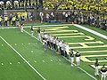 Notre Dame vs. Michigan football 2013 07 (2012 volleyball team).jpg