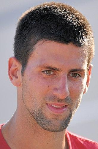 2010 Novak Djokovic tennis season - A close up of Djokovic at Indian Wells