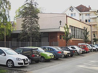 Protestantism in Serbia - Christian Baptist Church in Novi Sad; services are held in Serbian.