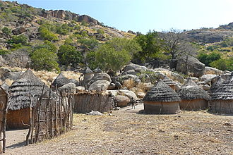 Nuba peoples - A Nuba village in the Nuba Mountains