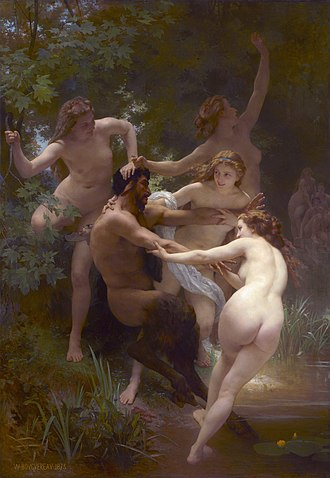 Nymphs and Satyr - Image: Nymphs and Satyr, by William Adolphe Bouguereau