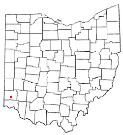 Location of Hamilton, Ohio