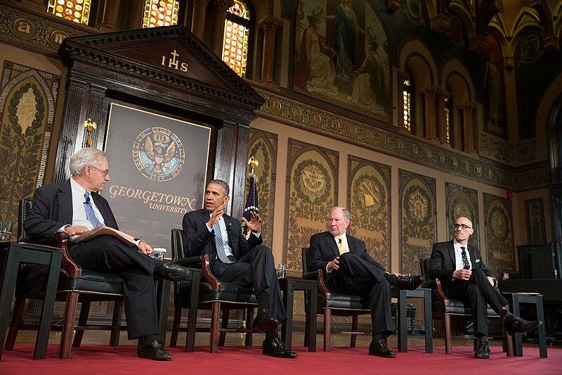 Obama at Georgetown University talk on poverty.jpg