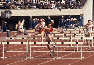 Athletics pentathlon combined track and field event