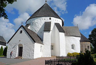 Østerlars Church church building in Bornholm Regional Municipality, Denmark