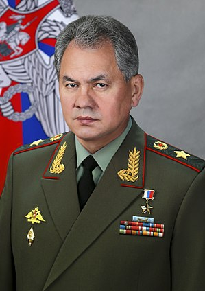 General of the army (Russia) - Defence secretary general of the army S. Shoygu with shoulder boards.