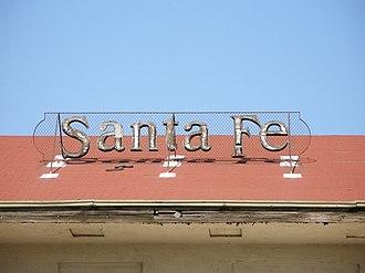 Santa Fe Passenger Depot (Fresno, California) - The Santa Fe sign on the Fresno Depot