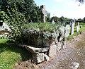 Old granite cross in Samford Courtenay graveyard, Mid Devon.jpg