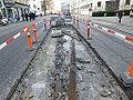 Old tram tracks in Smallegade 02.JPG