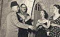 Omar Elwary the Mayor of Jerusalem in the French Embassy on the occasion of the French Independence Day 1954.jpg