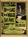 On the Banks of the Wabash, Far Away, sheet music cover with Bessie Davis, Paul Dresser, 1897.jpg