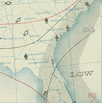 1910 Atlantic hurricane season - Image: One 1910 08 28 weather map
