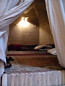 One of the bedrooms at Caravanserai Zein-o-din, Yazd, Iran (1258141895).jpg