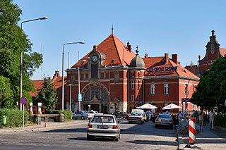 railway station in Opole, Poland