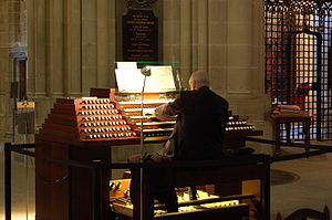 Organist - A cathedral organist in Lausanne Cathedral