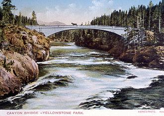 Hiram M. Chittenden - 1903 colored postcard image of the Chittenden Memorial Bridge