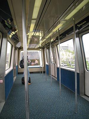 Orlando International Airport People Movers - Bombardier vehicle interior