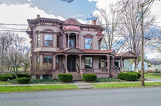 National Register of Historic Places listings in Cayuga County, New York - Image: Orrin W Burritt House