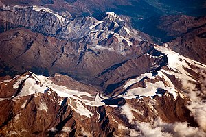 Ortler Alps - Ortler Alps viewed from 10,000 metres