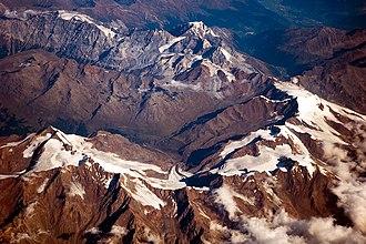 Ortler Alps - Ortler Alps viewed from 10,000 metres