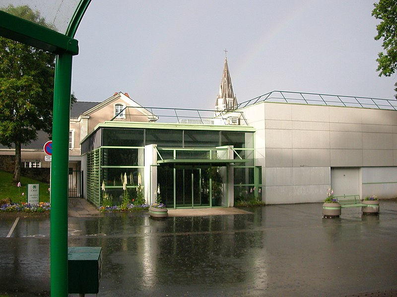 Town hall of Orvault with rainbow