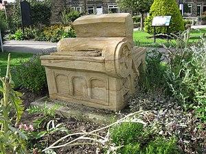 Otley - Sculpture of Wharfedale Press in Wharfemeadows Park