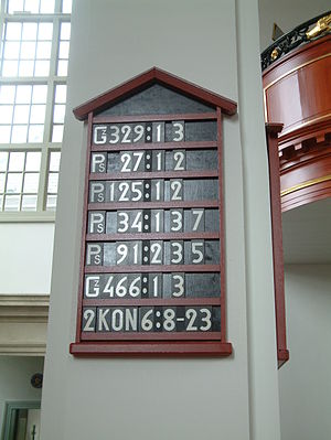 Hymn board - Hymn board in Zoetermeer  (The Netherlands)