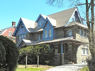 Overbrook Farms, Philadelphia - House on Overbrook Avenue