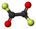 Ball-and-stick model of oxalyl fluoride
