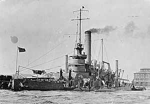 USS Arkansas (BM-7) - Ozark (M-7) in October 1915, Pensacola, Florida.