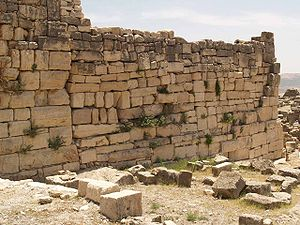 Dougga - Remains of the walls built in Late Antiquity, once believed to be Numidian fortifications
