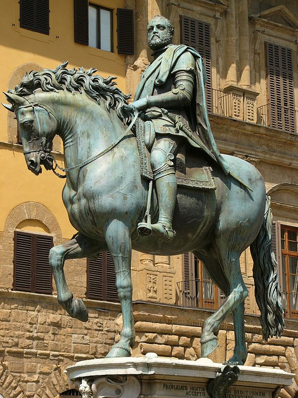 PI6D98~2ruiterstandbeeld Cosimo I de' Medici