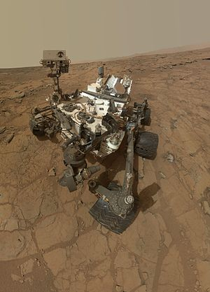 Nuclear power in space - Mars rover powered by a RTG on Mars