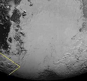 Sputnik Planitia - Image: PIA19936 crop Wright Mons context