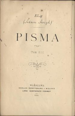 Poezye T 3 Adam Asnyk Wikiźródła Wolna Biblioteka