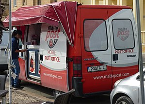 Mobile post office - A MaltaPost mobile post office