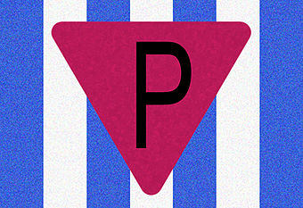 The camp badge for non-Jewish Polish political prisoners P Oboz.jpg