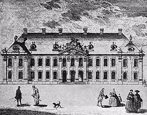 Potocki Palace, Warsaw - Potocki Palace in 1762