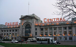 Pacific Central Station - Image: Pacific Central Station Vancouver