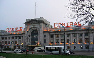 Pacific Central Station railway station in Vancouver, Canada