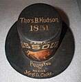 Painted fire hat worn by Missouri Fire Co. No. 5 Capt. Thomas B. Hudson.jpg